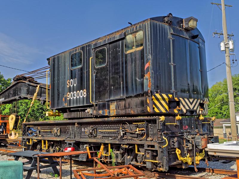 Railroad Crane at Restoration Yard