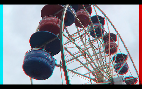 Transportation in Anaglyph Stereo