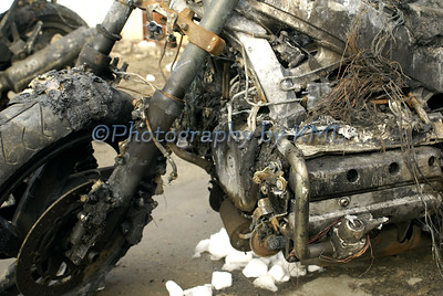 Damaged Motorcycle