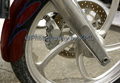 Silver Motorcycle Wheel