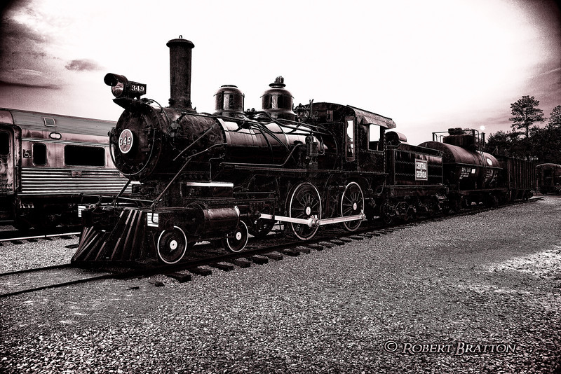 Old 349 in Black & White