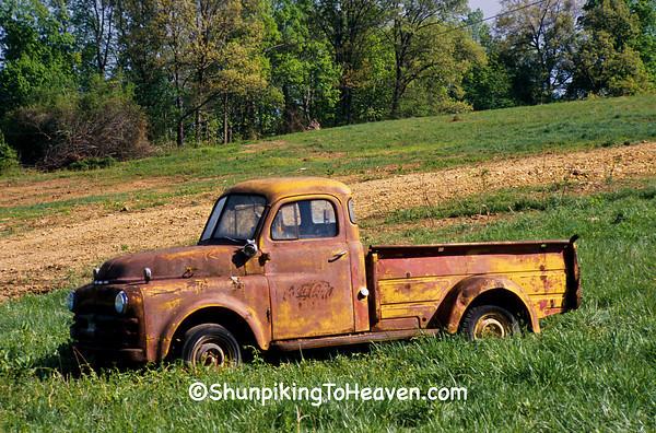 Rusty Old Coca Cola Truck, Barren County, Kentucky