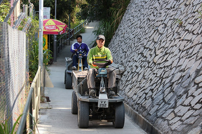 Small motorised construction scooter, Sok Kwu Wan, Lamma Island, Hong Kong