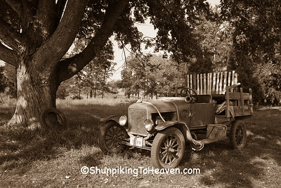 Old Beverly Hillbillies Truck in Sepia Tone, Jackson Co., Iowa