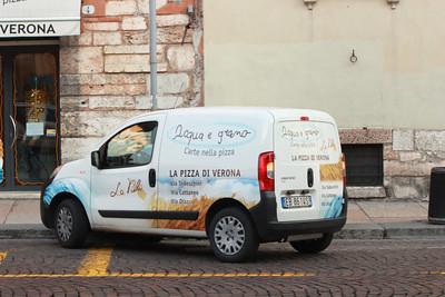 Italy, Verona, Pizza Delivery Van