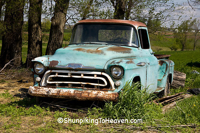 Rusty Turquoise Chevrolet 3200 Pickup Truck, Vernon County, Wisconsin