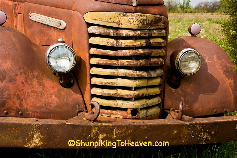 Front of Rusty Old GMC Semi Truck, Jasper County, Missouri
