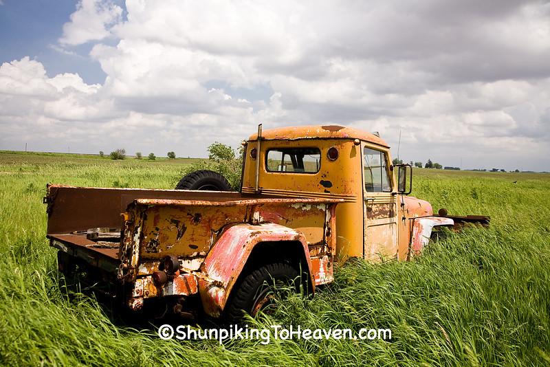 Rusty Old Truck in a Field, Cedar County, Iowa
