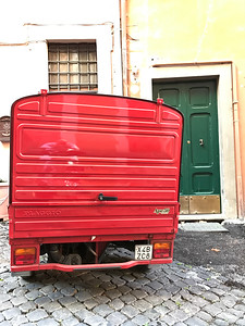 Piaggio Ape 50 Delivery Vehicle Rear Shot