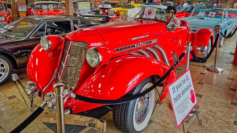 Elvis in his 1930s Roadster