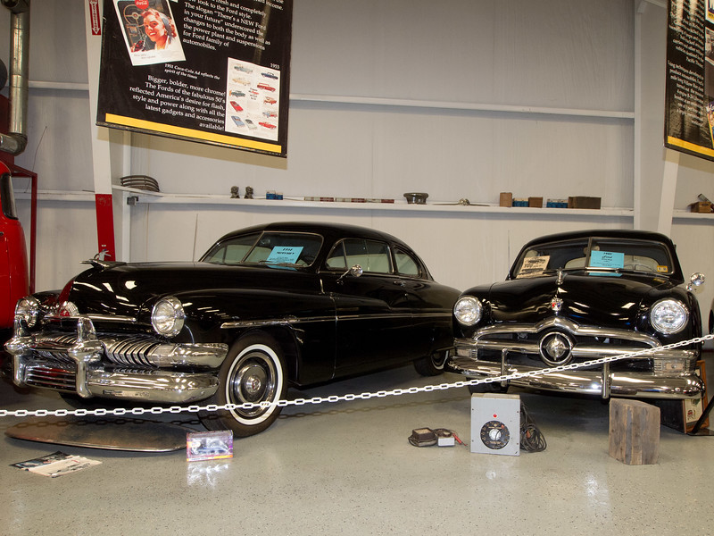 1951 Mercury and 1950 Ford