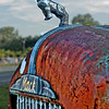 Antique Mac Firetruck Hood and Ornament