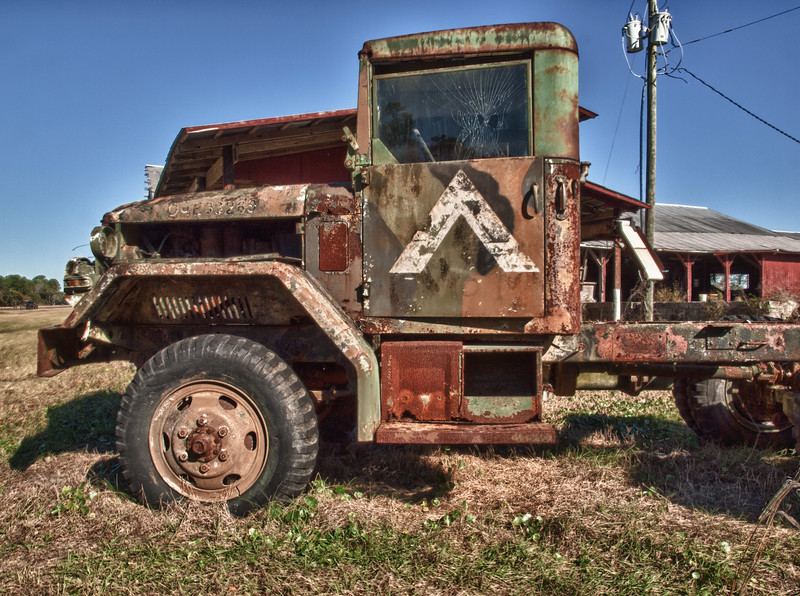Old Army truck near Hastings