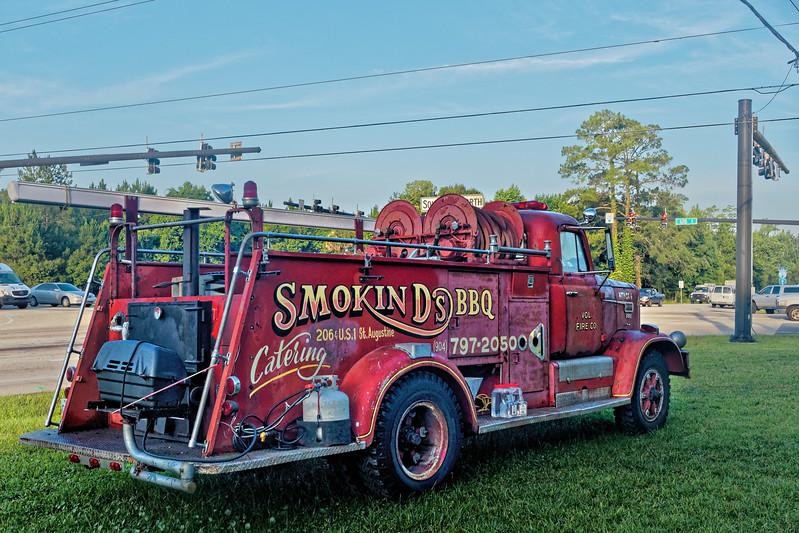Smokin' D's BBQ Firetruck