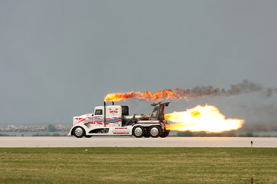 CLEVELAND, OHIO - SEPT. 6: The Shockwave jet engine semi truck at the Cleveland National Airshow on Sept. 6, 2009 in Cleveland, Ohio.