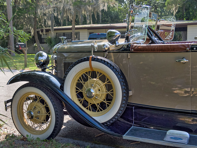 Spare Tire and Running Board of 1930 Ford Model 'A'