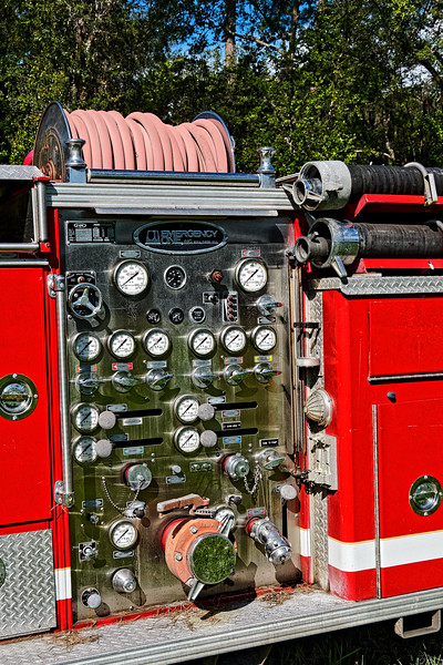 Emergency One Panel on Ford Fire Truck