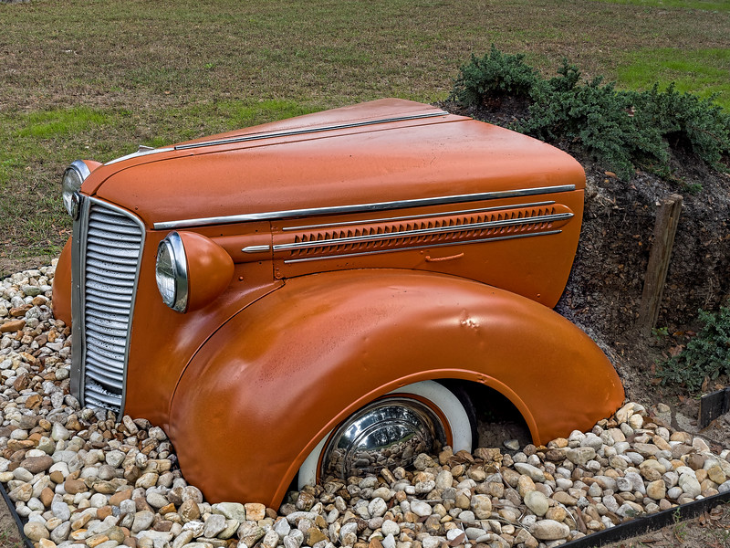 "1937 Dodge ""Planter"" in Florida Yard"