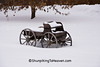 Little Buckboard in the Snow, Sauk County, Wisconsin