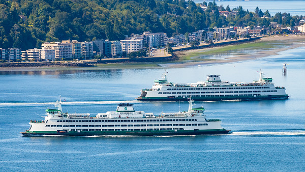 Ferries Tacoma and Wenatchee pass