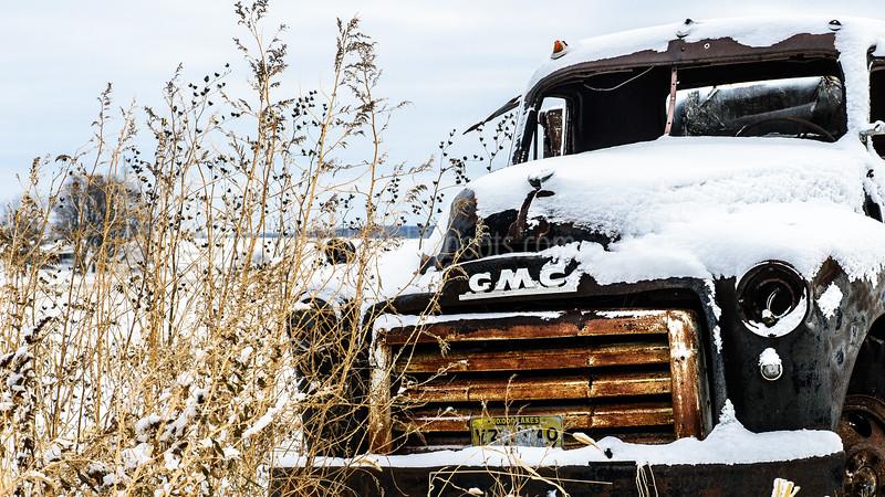 Truck in Beanfield