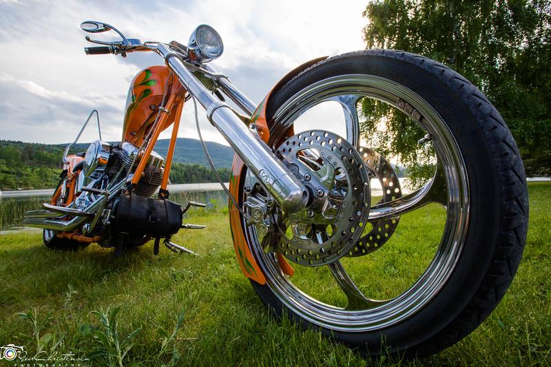 Orange bike front