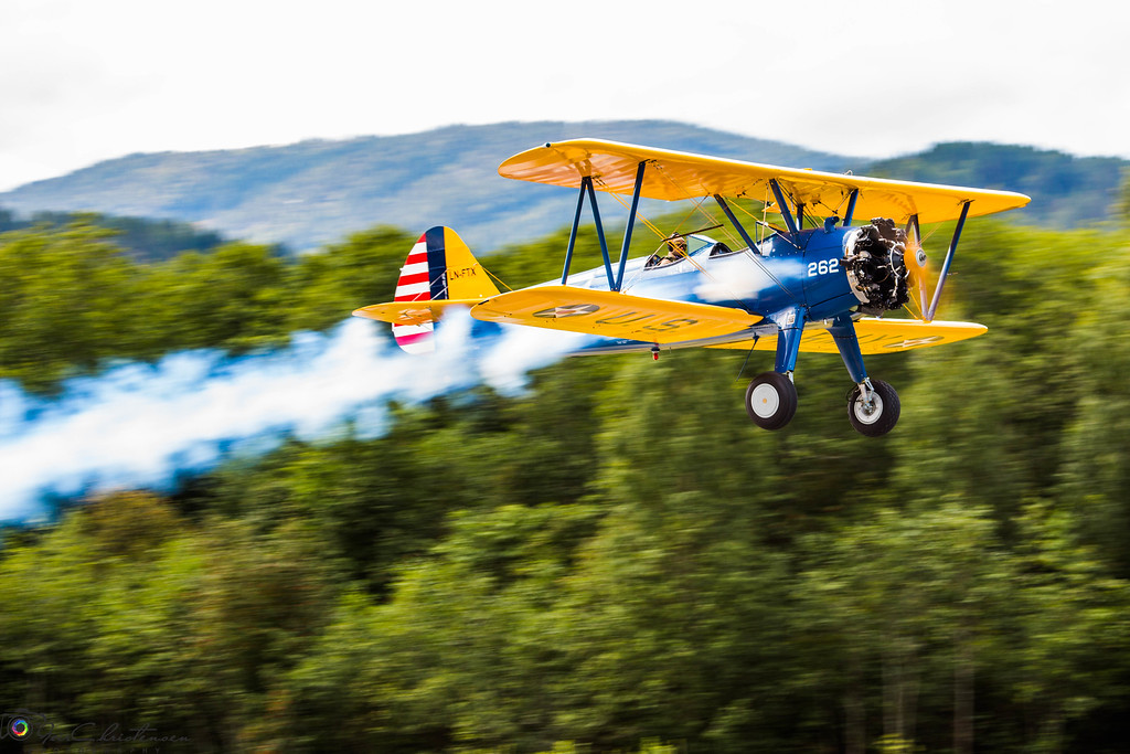 LN-FTX Takeoff