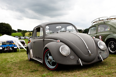 My brothers 1964 unrestored VW at a Beetle meet-up near Copenhagen