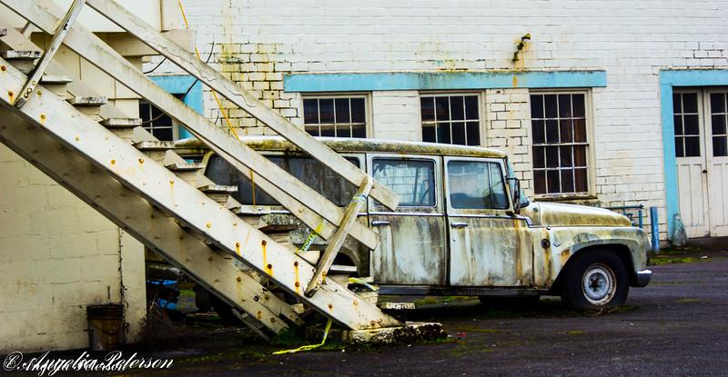 Old car dealership