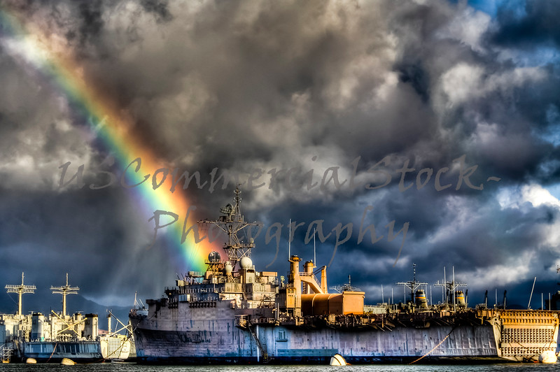 Ship with Rainbow