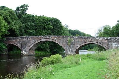 B723 Hoddom Bridge.   River Annan
