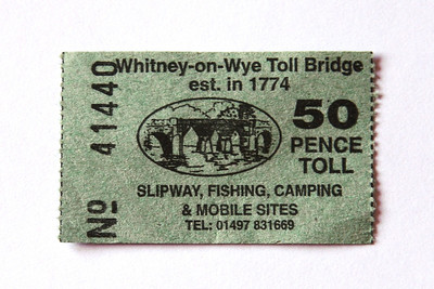 Whitney-on-Wye Toll Bridge 1774.   Had to be done.