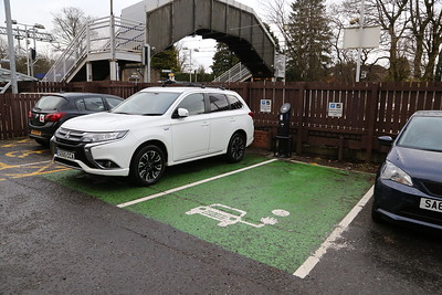 Lenzie - ScotRail branded EV charger