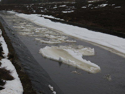 Snowmelt floats down to the Dalwhinnie Hydro facility