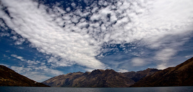 127) Clouds over Wakatipu	Val Pohio	WCC		3	4	7<br /> The cloudscape is very strong and speaks to the different types of clouds and their significance - Alto Cumulus clouds show potential for showers/thunderstorms.   The landscape is striking and yet over shadowed by the towering clouds.