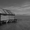 "Wanaka Camera Club_"" Seaside Boathouse In Morning Mist ""  by  Nina Henderson........Total Points = 6<br /> <br /> More atmosphere would lift this image to another level"