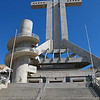 """"""" The Cross, Coquimbo, Chile """"  By  Anne Macdonald.<br /> <br /> A magnificent structure. The detail in the circular stair and the texture of the concrete have been well represented. There are some issues with regard to converging lines and lens barrelling which can be easily corrected in Photoshop.11"""
