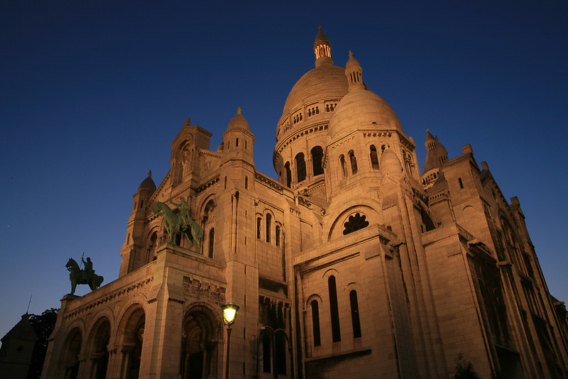 """  Sacre Coeur, Paris ""  By Thierry Huet.<br /> <br /> Right time of night, right angle, right everything.	15"