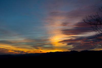 Sunset #9, Blue Ridge Mountains in North Carolina