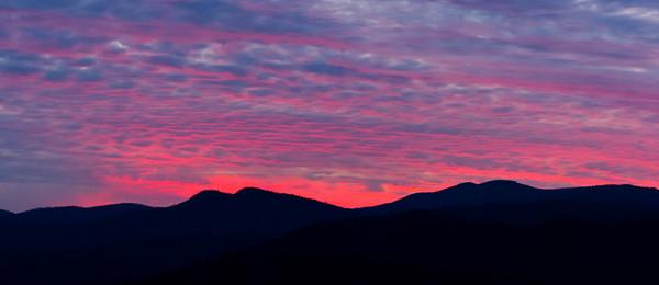 Sunset #3, Blue Ridge Mountains in North Carolina