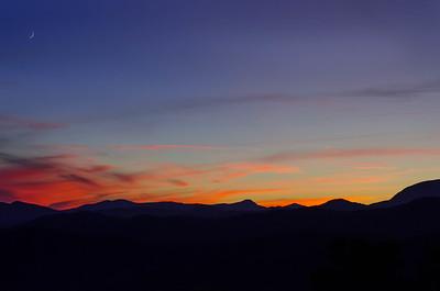 Sunset, Blue Ridge Mountains in North Carolina