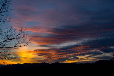 Sunset #10, Blue Ridge Mountains in North Carolina