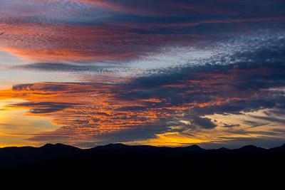 Sunset #5, Blue Ridge Mountains in North Carolina