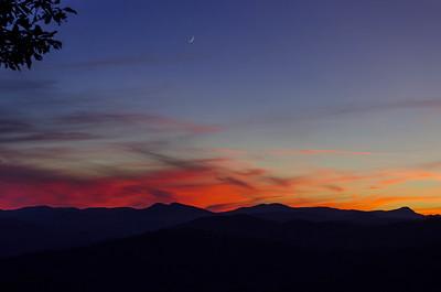 Sunset #2, Blue Ridge Mountains in North Carolina