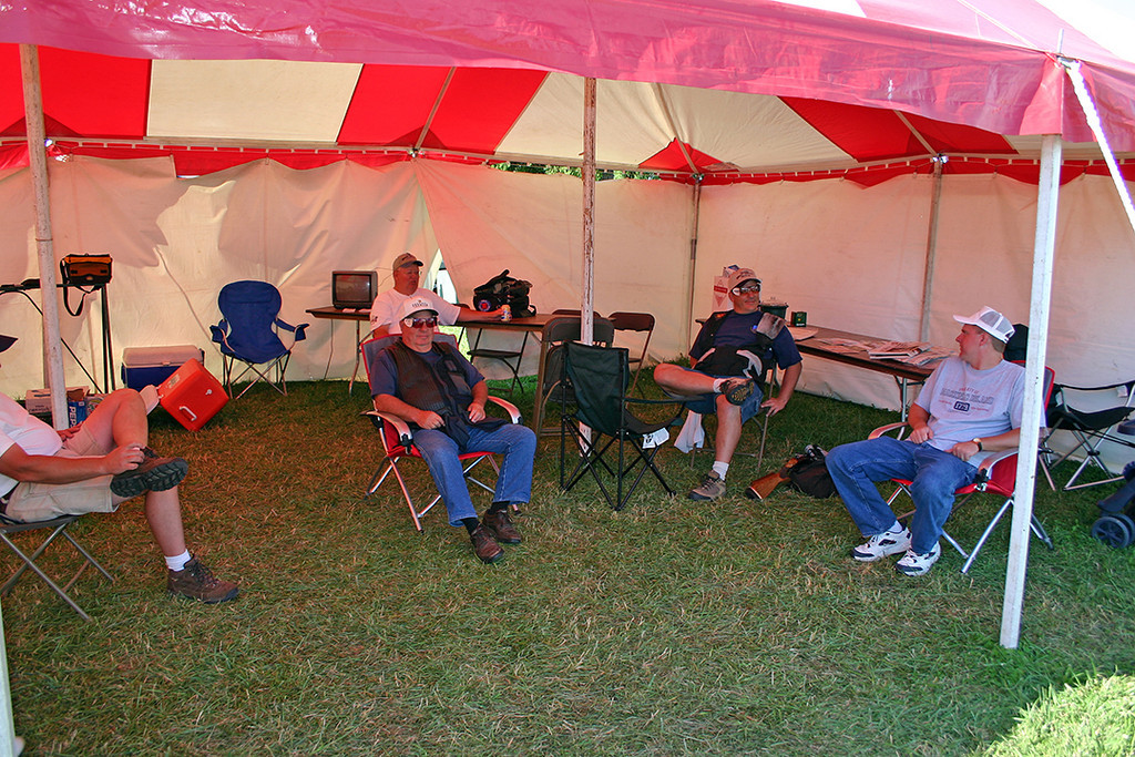 """Crossroads Sportsmen getting """"Mentally Prepared"""" for the days events."""