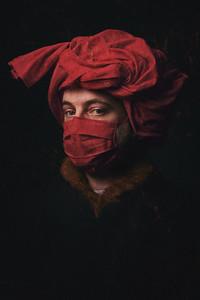 L'homme (masqué) au turban rouge