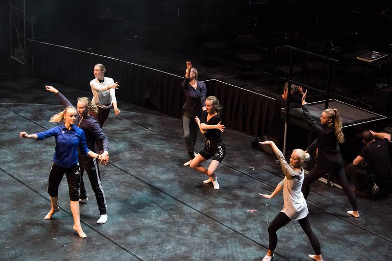 Cast of Phantom of the Opera,  back stage Harpa Opera House, Reykjavik