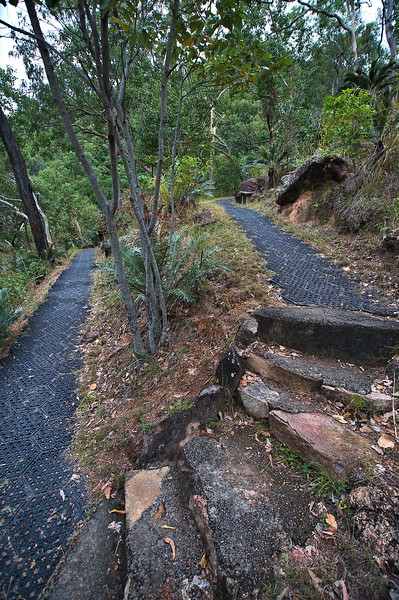 Jourama Falls walking track - plastic grid makes a robust and safe track