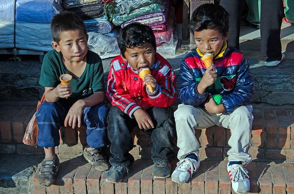 Three Boys In Kathmandu
