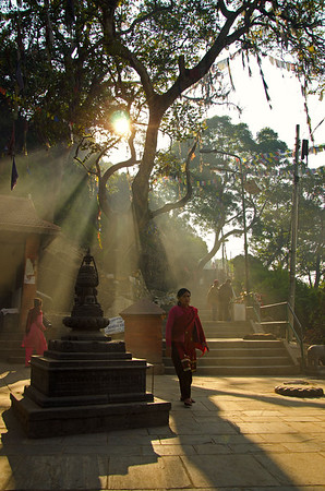 The Swayambhunath Temple (or the Monkey Temple)  (I)